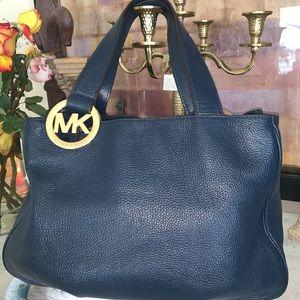 Michael Kors Blue Pebbled Leather bag